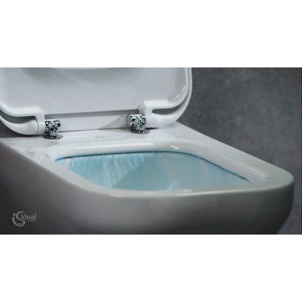 Set vas WC suspendat Ideal Standard Tonic II AquaBlade cu fixare ascunsa, cu capac inchidere lenta