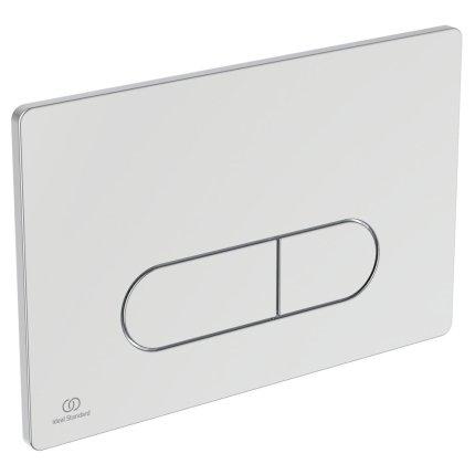 Set vas WC suspendat Ideal Standard Connect Air Aquablade, capac inchidere lenta si rezervor incastrat ProSys cu clapeta Oleas M1 crom