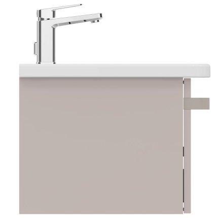 Dulap baza Ideal Standard Tonic II 80 cm, un sertar cu inchidere lenta, maro deschis lucios