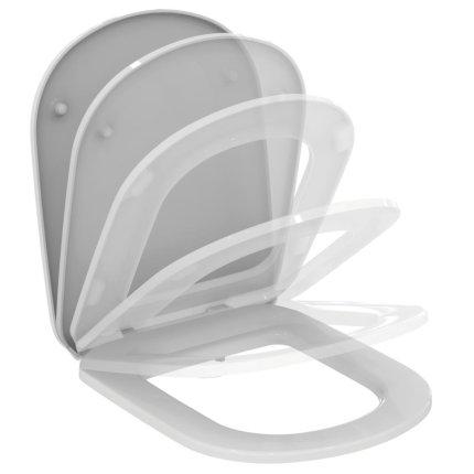 Capac WC Ideal Standard Tempo cu inchidere lenta, alb