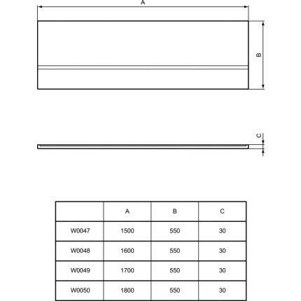 Panou frontal Ideal Standard Simplicity 160cm