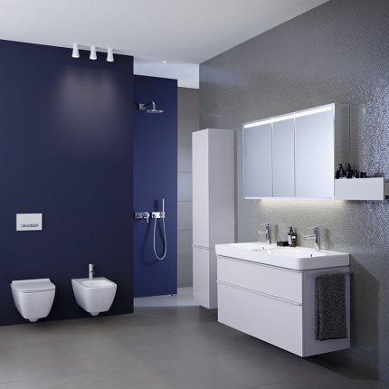 Lavoar Geberit Smyle Square 75x48cm, montare pe mobilier, alb