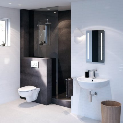 Vas WC suspendat Geberit Selnova Square Rimfree 35x53cm, alb