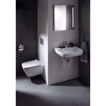 Vas WC suspendat Geberit Smyle Square Rimfree, 35x54cm, prinderi ascunse, alb