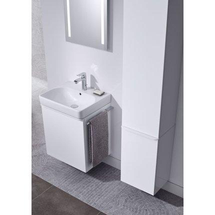 Dulap baza Geberit Smyle Square cu 2 sertare, 90cm, alb lucios