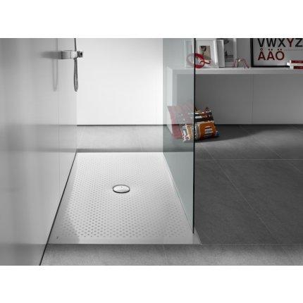 Cadita de dus Roca In-floor 120x80x2.5 cm, Superslim, otel