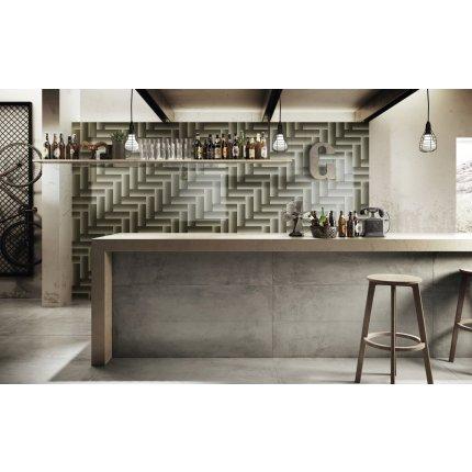Gresie portelanata rectificata Diesel living Grunge Concrete 60x30cm, 9mm, Scratch Iron Grey