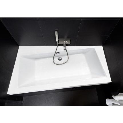 Cada baie asimetrica Besco Infinity 160x100cm, acril, orientare stanga