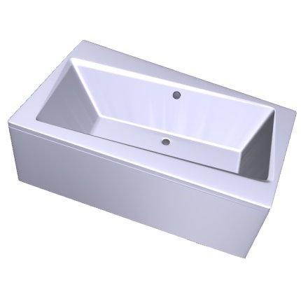 Cada baie asimetrica Besco Infinity 170x110cm, acril, orientare stanga