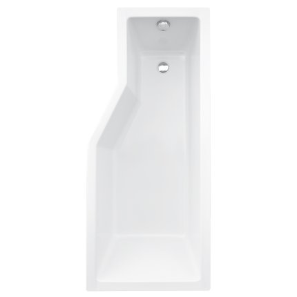 Cada asimetrica Besco Integra 170x75 cm cu paravan sticla 3 elemete  varianta stanga
