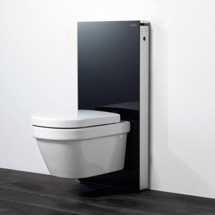Rezervor wc Geberit Monolith aparent pentru wc suspendat 114cm sticla neagra