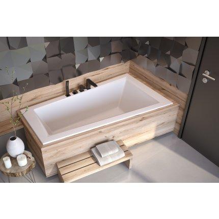 Cada baie asimetrica Besco Intima Slim 150x85cm, acril, orientare dreapta