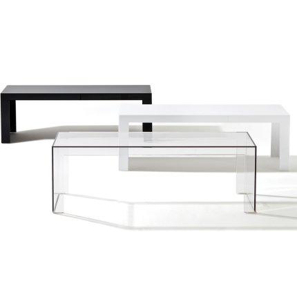 Masuta Kartell Invisible design Tokujin Yoshioka, 120x40x31.5cm, transparent