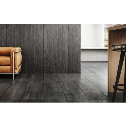 Gresie portelanata rectificata Diesel living Arizona Concrete Smooth 60x30cm, 9mm, Black
