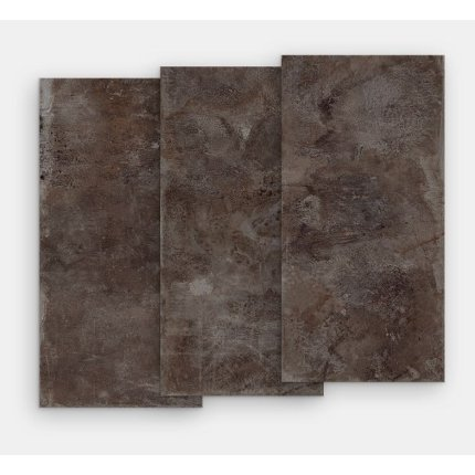 Gresie portelanata rectificata FMG Lamiere Maxfine 100x100cm, 6mm, Bronze Iron