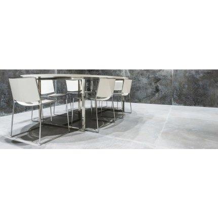 Gresie portelanata rectificata FMG Lamiere Maxfine 100x100cm, 6mm, Grey Iron