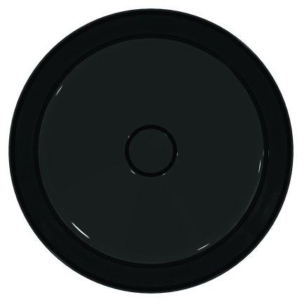 Lavoar tip bol Ideal Standard Ipalyss E1398, diametru 40cm, fara orificiu baterie, fara preaplin, V2 Black Gloss