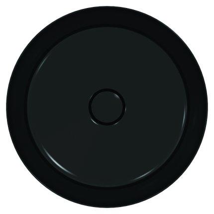 Lavoar tip bol Ideal Standard Ipalyss E1398, diametru 40cm, fara orificiu baterie, fara preaplin, V3 Black Matt