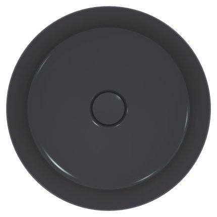 Lavoar tip bol Ideal Standard Ipalyss E1398, diametru 40cm, fara orificiu baterie, fara preaplin, V5 Slate Grey