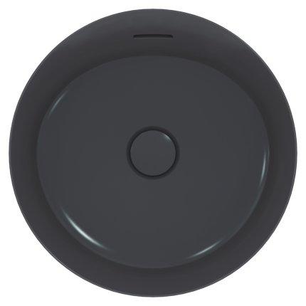 Lavoar tip bol Ideal Standard Ipalyss E1413, diametru 40cm, fara orificiu baterie, V5 Slate Grey