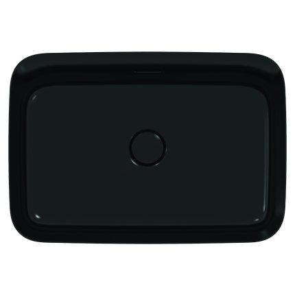 Lavoar tip bol Ideal Standard Ipalyss E2078 55x38cm, fara orificiu baterie, V3 Black Matt