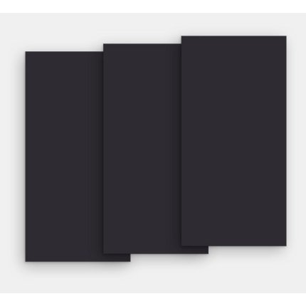 Gresie portelanata FMG Chromocode 3D Maxfine 100x100cm, 6mm, Ivory Black Lucidato