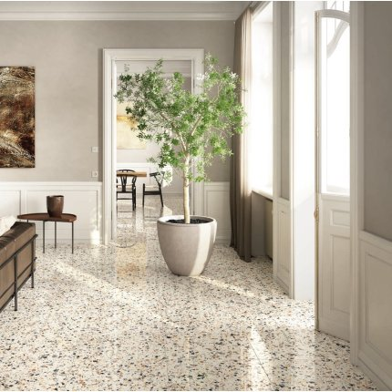 Gresie portelanata rectificata FMG Venice Villa 20x20cm, 10mm, Ivory Levigato