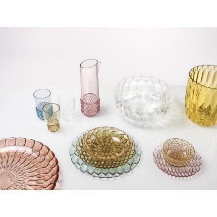 Farfurie Kartell Jellies Family design Patricia Urquiola, 21.5cm, roz transparent