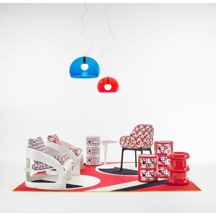 Scaun Kartell Clap design Patricia Urquiola, editie Double J, negru -  model geometric
