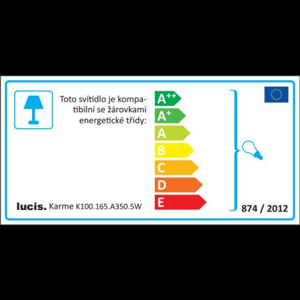 Lustra Lucis Karme 10x40W, E27, 130cm, nichel-alb