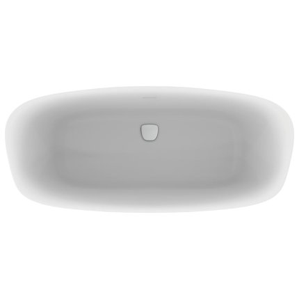 Cada free-standing Ideal Standard Dea 170x75cm, cu sifon tip push-open inclus, alb lucios/negru