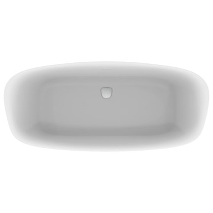 Cada free-standing Ideal Standard Dea 180x80cm, cu sifon tip push-open inclus, alb lucios/negru