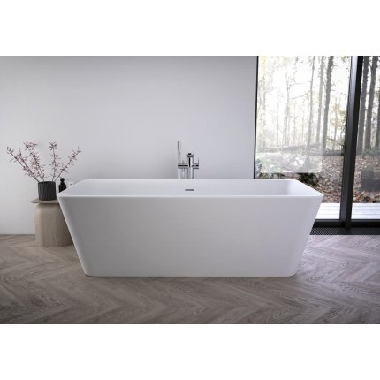 Cada free-standing Ideal Standard Tonic II 180x80cm, cu sifon tip push-open inclus, alb mat