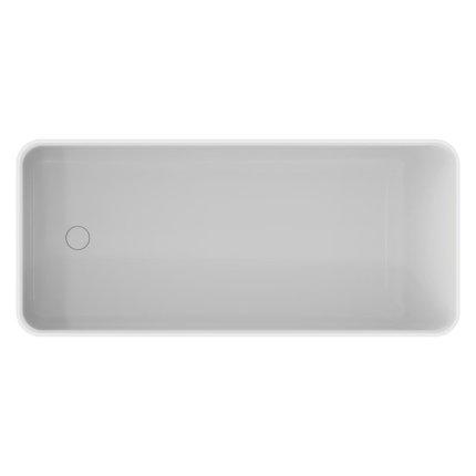 Cada free-standing Ideal Standard Conca Solid Surface 180x80cm, cu sifon tip push-open inclus, alb mat