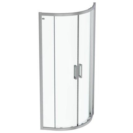 Cabina de dus semirotunda Ideal Standard Connect 2  80x80cm, usi culisante, sticla 6mm tratata IdealClean