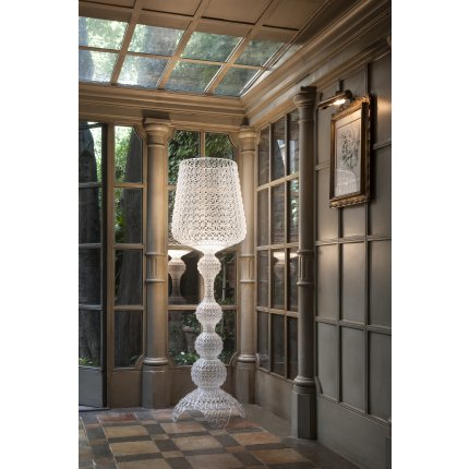 Lampadar Kartell Kabuki design Ferruccio Laviani, LED 25W, h165cm, alb opac