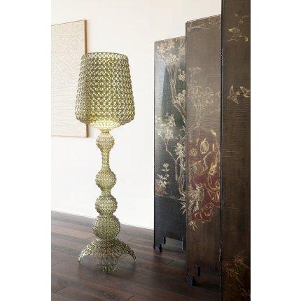 Lampadar Kartell Kabuki design Ferruccio Laviani, LED 25W, h165cm, verde transparent