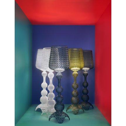 Lampadar Kartell Kabuki design Ferruccio Laviani, LED 25W, h165cm, bleu transparent