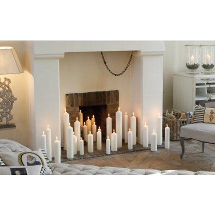 Lumanare Engels Kerzen Kamin 5 x 12 cm, 22 ore, Ivory