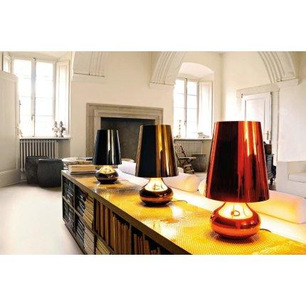 Veioza Kartell Cindy design Ferruccio Laviani, d23.6cm, h42cm, gri inchis
