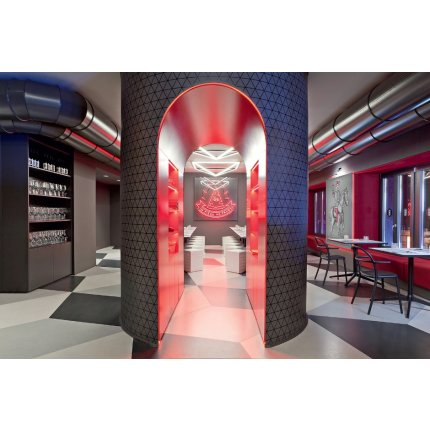 Taburet Kartell EUR design Fabio Novembre, 45x36x36cm, gri
