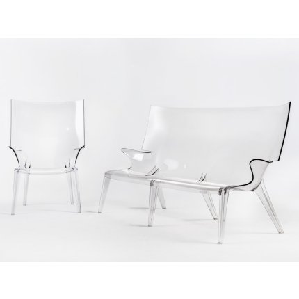 Canapea Kartell Uncle Jack design Philippe Starck, 190cm, transparent