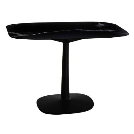 Masa Kartell Multiplo design Antonio Citterio, 99x99cm, h74cm, baza patrata, blat cu finisaj marmura, negru