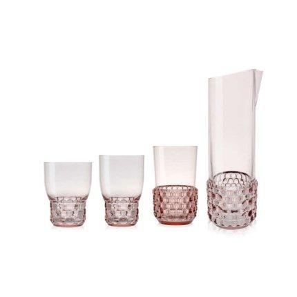 Carafa Kartell Jellies Family design Patricia Urquiola, d 12.5cm, h30cm, roz transparent