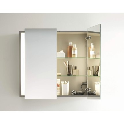 Dulap cu oglinda si iluminare Duravit Ketho 100x75cm, stejar european