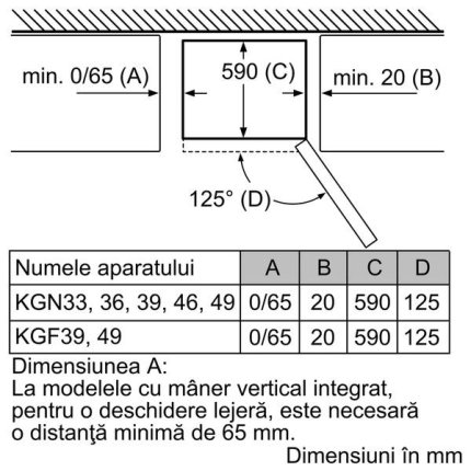 Combina frigorifica independenta Neff Line KG7393I30 366 litri, NoFrost, clasa A++, usi Inox Antiamprenta