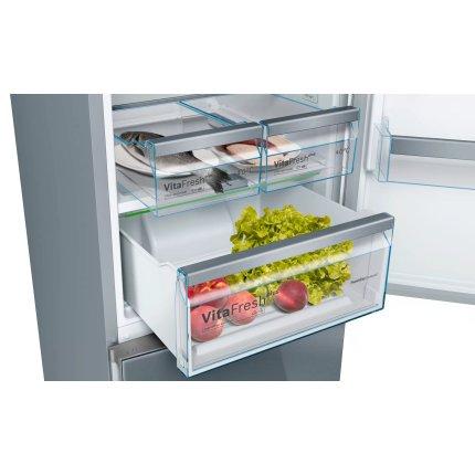 Combina frigorifica Bosch KGN39IJ3A Serie 4, NoFrost, 366 litri, Clasa A++, usi Inox Vario Style