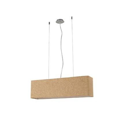 Suspensie Ideal Lux Kronplatz SP4, 4x40W, 80x50-135cm, canvas