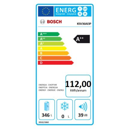 Frigider Bosch KSV36AI3P Serie 6, 346 litri net, Clasa A++, usa inox Antiamprenta