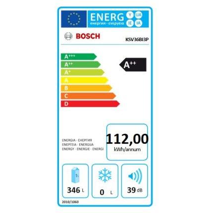 Frigider Bosch KSV36BI3P Serie 6, 346 litri net, Clasa A++, usa inox Antiamprenta